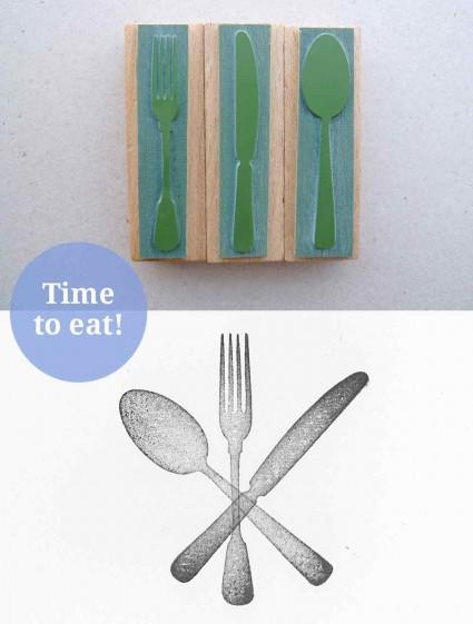 Stempelset Besteck – Messer, Gabel, Löffel