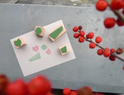 Asymmetrisches Stempel Set von karamelo