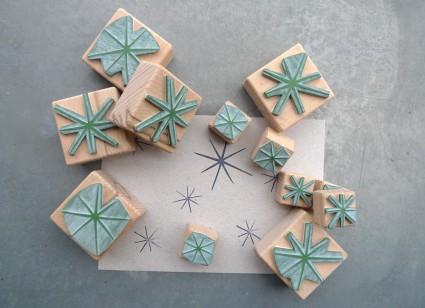 karamelo_Stempel Sterne in gross und klein
