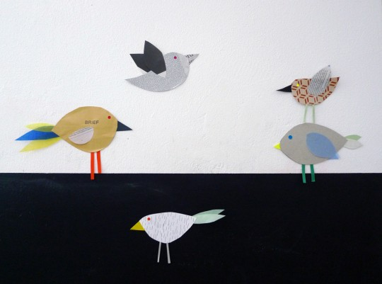 karamelo Papiervögel DIY für die Nido
