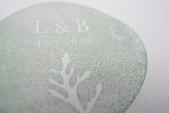 Hochzeitstempel mit Initialen & Datum