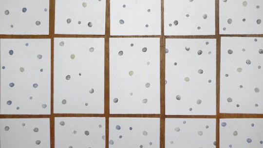 gestempelte Weihnachtskarten mit Punkten