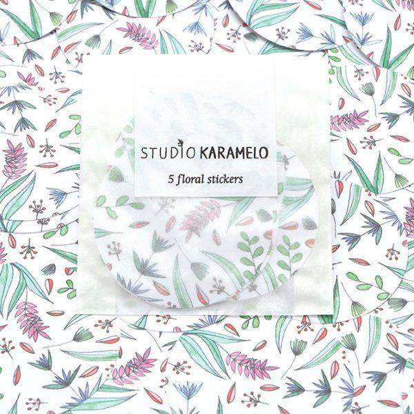 Aufkleber floral Blumen Hagebutten | STUDIO KARAMELO