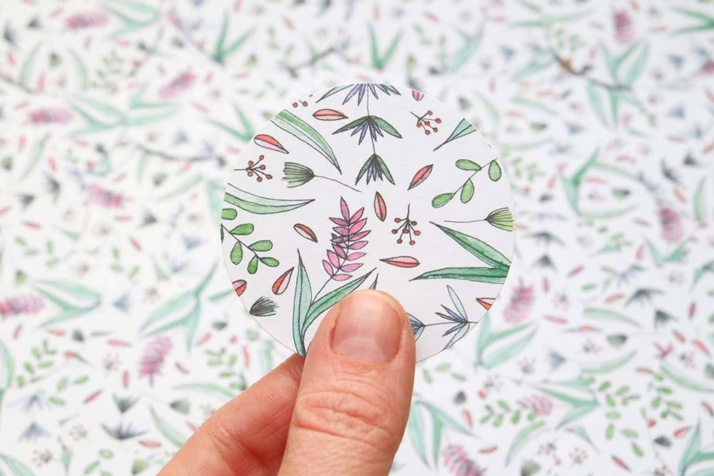 Aufkleber Blumen Hagebutten | sticker with flowers