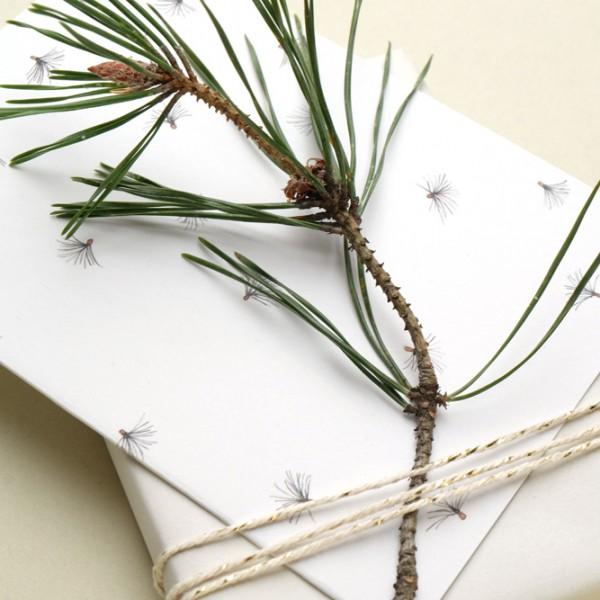 Klappkarte Weihnachten Lärche Tannenzweige
