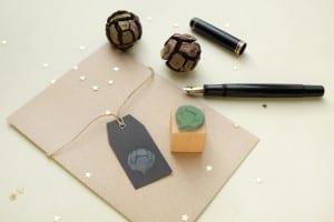 Weihnachtsstempel Zapfen Zypresse | christmas rubber stamp cypress cone