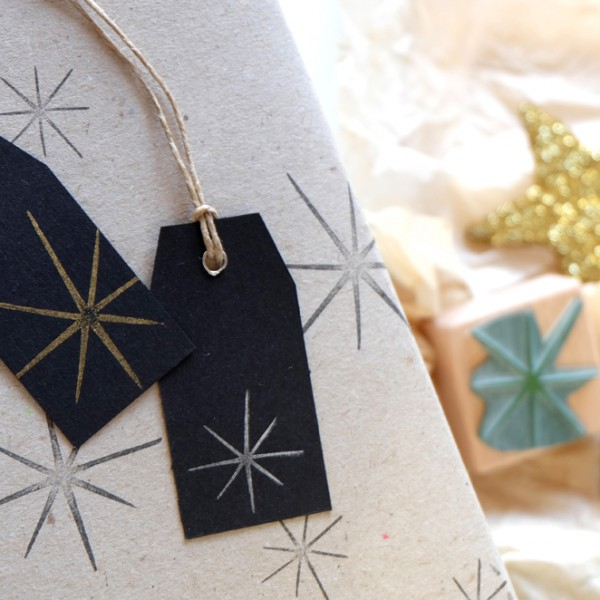 Weihnachtsstempel Stern   christmas rubber stamp star