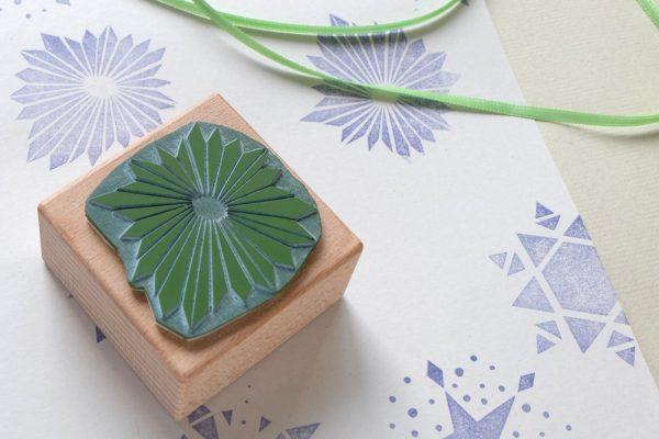 Weihnachtsstern-Stempel | christmas star rubber stamp