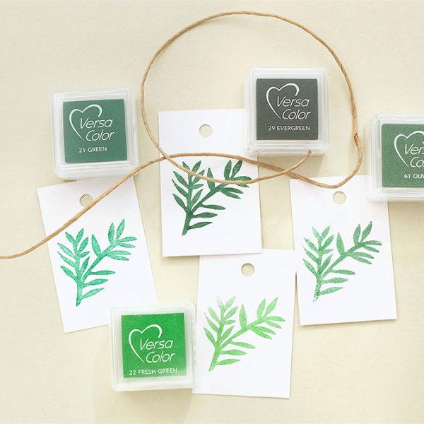 Stempelkissen gruen VersaColor Grüntöne | rubber stamp ink pad green | STUDIO KARAMELO