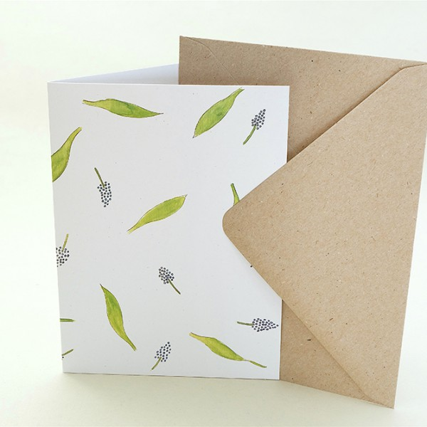 florale Grußkarte Hyazinthe Eberesche | Greeting Card hyacinth | studiokaramelo