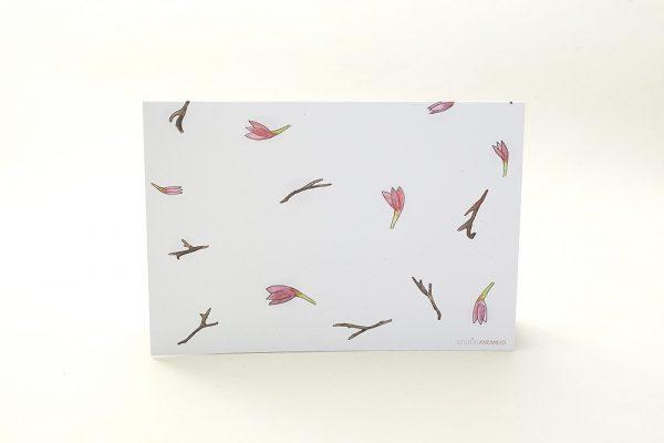 florale Grußkarte Magnolien | Greeting Card magnolia | studiokaramelo