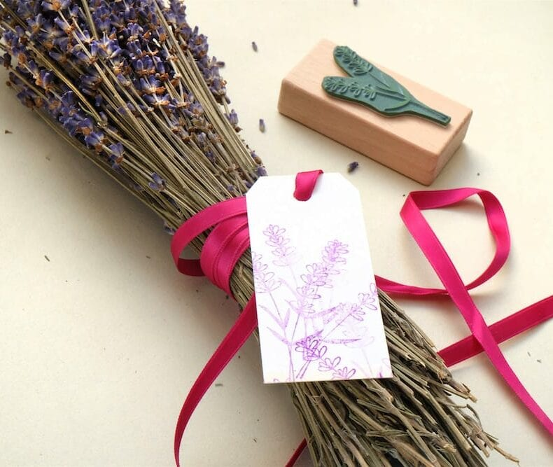 Rubber Stamp Lavender || studiokaramelo