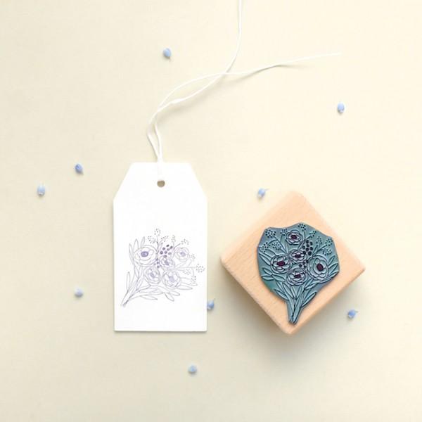 Rubber Stamp bunch of flowers || studiokaramelo