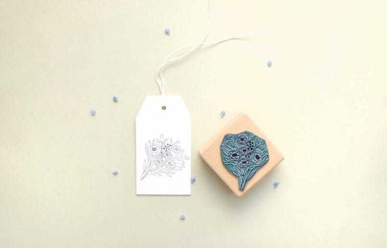 Rubber Stamp bunch of flowers || studiokaramelo