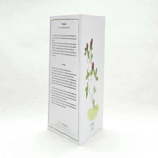 Wegesrandkraeuterkarte Wiesenklee für die Kräuterwanderung | greeting card with wild herbs red clover| studiokaramelo