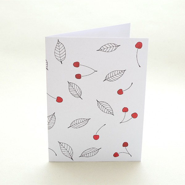 Grußkarte Kirsche | Greeting Card cherries | studiokaramelo