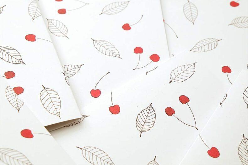 Grußkarte Kirsche | Greeting Card cherries | studiokaramelo