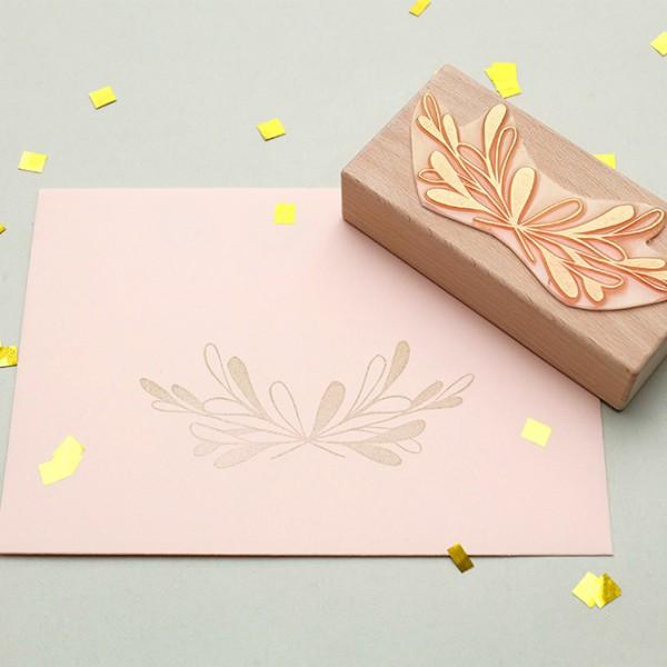 Hochzeitsstempel, floraler Stempel Zweig studiokaramelo | wedding rubber stamp