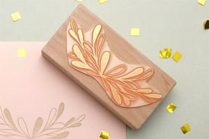 Hochzeitsstempel, floraler Stempel Zweig studiokaramelo   wedding rubber stamp