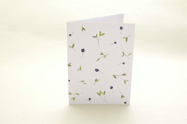 florale Grußkarte Liguster | Greeting Card privet | studiokaramelo