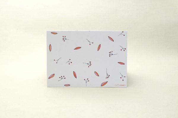 florale Grußkarte Vogelbeere Eberesche   Greeting Card rowan berry   studiokaramelo