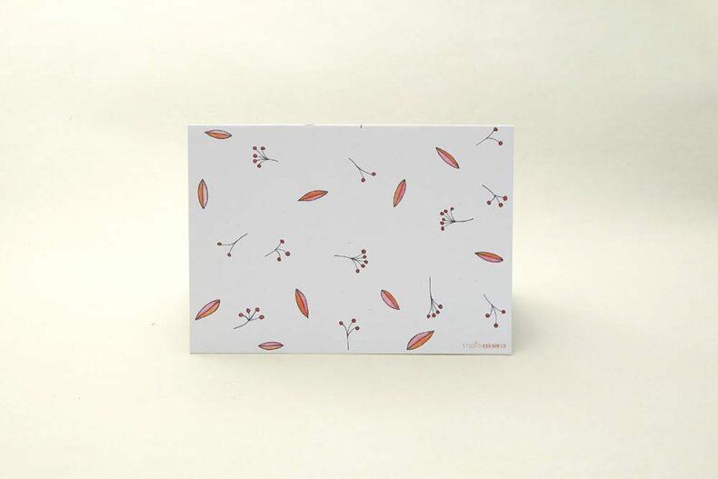 florale Grußkarte Vogelbeere Eberesche | Greeting Card rowan berry | studiokaramelo