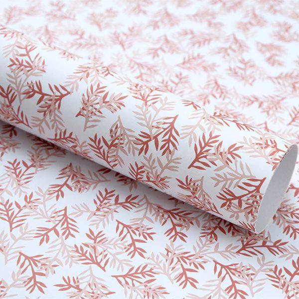 Florales Geschenkpapier Konifere rosé | floral wrapping papier | STUDIO KARAMELO