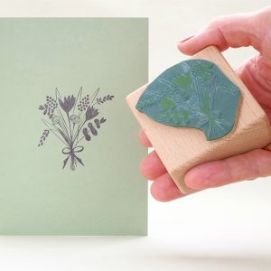 Stempel Blumenstrauss | rubber stamp bunch of flowers | STUDIO KARAMELO