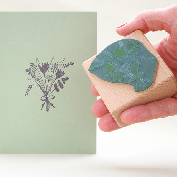 Stempel Blumenstrauss | rubber stamp bunch of flowers | STUDIO KARAMELO