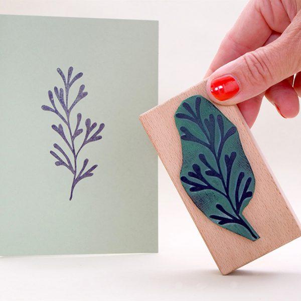 floraler Stempel Unterwasserpflanze | underwater rubber stamp | STUDIO KARAMELO