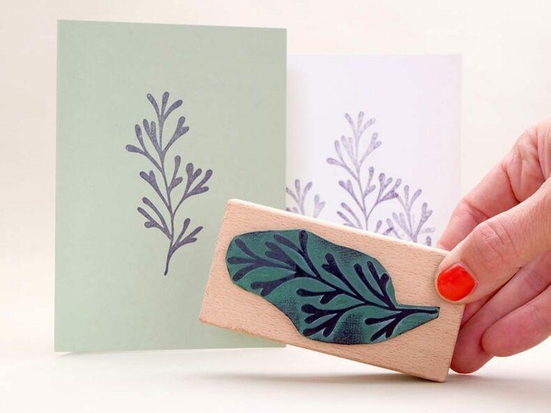 floraler Stempel Unterwasserpflanze | STUDIO KARAMELO