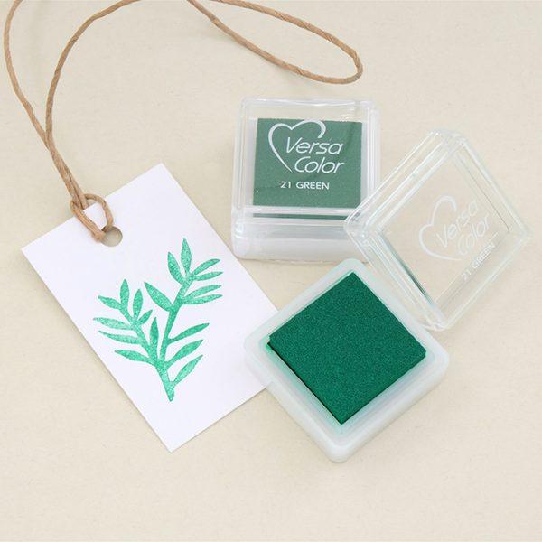 Stempelkissen gruen VersaColor | rubber stamp ink pad green | STUDIO KARAMELO