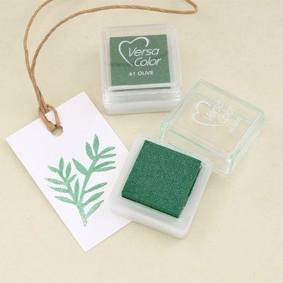 Stempelkissen oliv VersaColor olivgruen | rubber stamp ink pad olive green | STUDIO KARAMELO