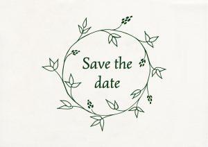 Save the Date Stempel, Hochzeitsstempel, floraler Kranz | STUDIO KARAMELO
