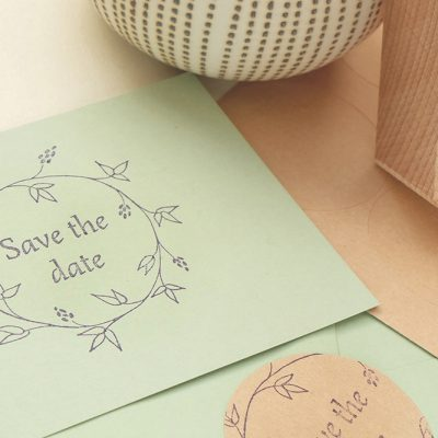 Save-the-date-Hochzeitsstempel | STUDIO KARAMELO | Save the date stamp wedding