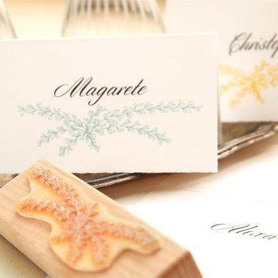 Hochzeitsstempel Zweige | Dekostempel | STUDIO KARAMELO | wedding rubber stamp place cards
