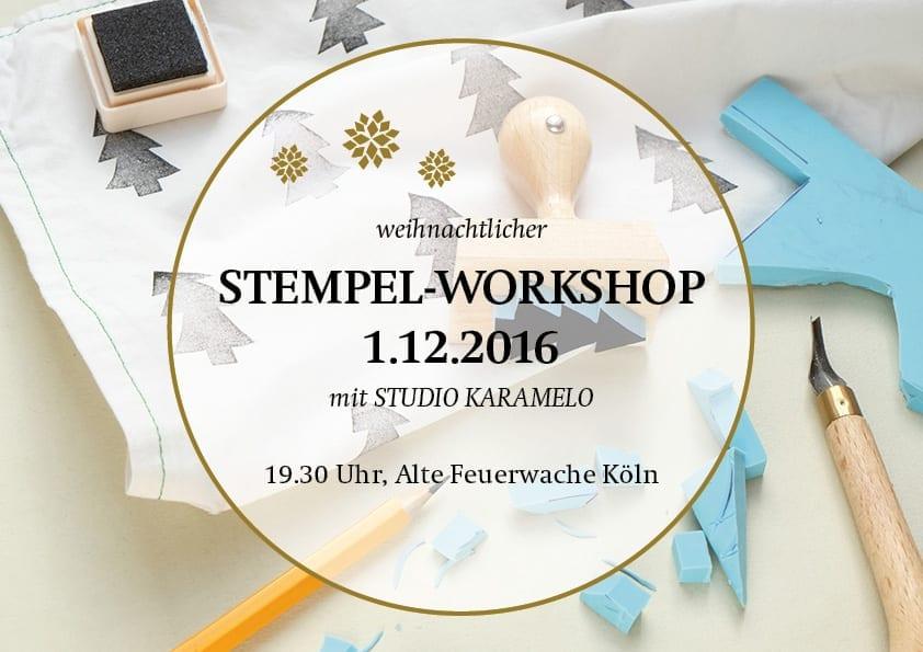 Stempel-Workshop mit STUDIO KARAMELO in Köln | Stempel schnitzen