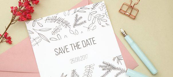 Save the date Karte floral | Hochzeitspapeterie | STUDIO KARAMELO | Green Wedding