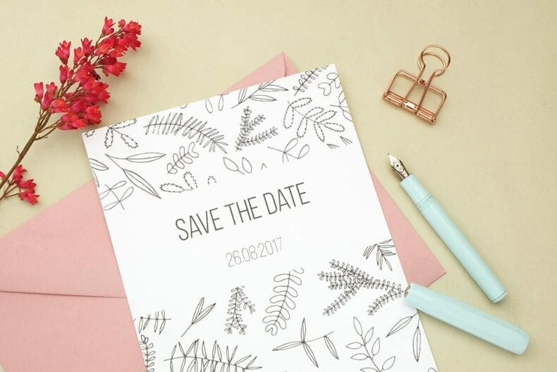 Save the date Karte floral | Hochzeitspapeterie | STUDIO KARAMELO | Green Wedding