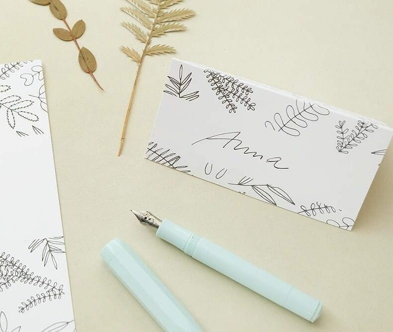 Tischkärtchen | Florale Hochzeitspapeterie | STUDIO KARAMELO | Blaetter und Zweige