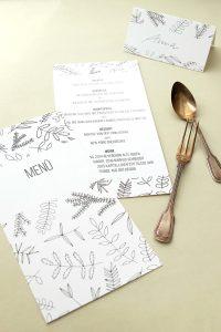 Menükarte | Florale Hochzeitspapeterie | STUDIO KARAMELO | Blaetter und Zweige