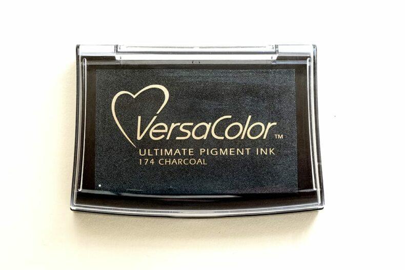 Stempelkissen Charcoal, Anthrazit, VersaColor | STUDIO KARAMELO | anthracite ink pad