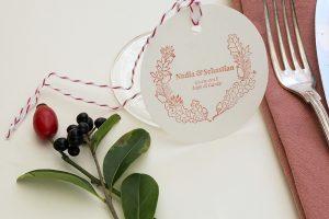 Personalisierter Hochzeitsstempel Herbstkranz   STUDIO KARAMELO