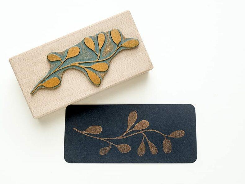 Stempel Alge, Zweig mit Beeren | STUDIO KARAMELO