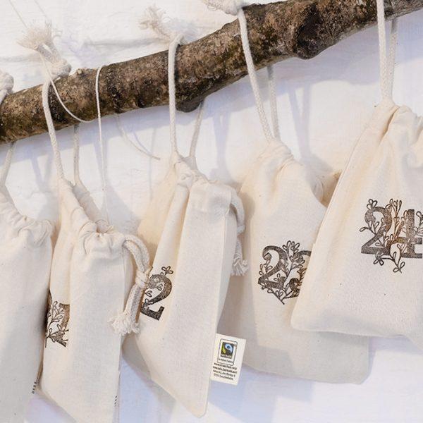 Nachhaltiger Adventskalender Baumwollbeutel | STUDIO KARAMELO