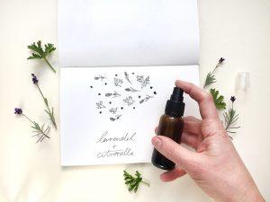 Lavendel-Citronella-Spray für einen klaren Kopf und gegen Mücken