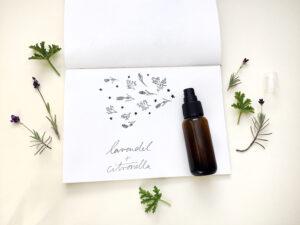 Lavendel-Citronalla-Spray für einen klaren Kopf und gegen Mücken