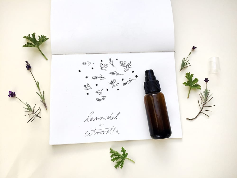 Lavendel-Citronalla-Spray für einen klaren Kopf und gegen Mücken