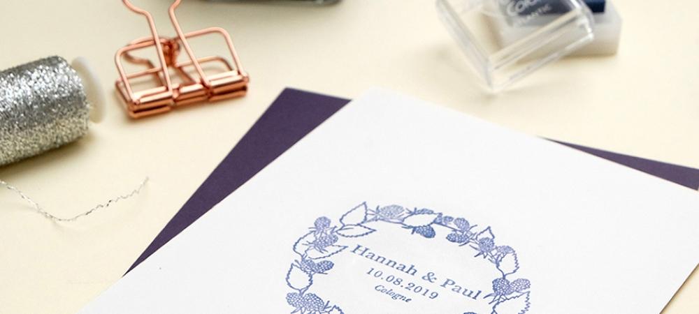 Hochzeitsstempel Brombeer Kranz STUDIOKARAMELO Stempel für Sommerhochzeit