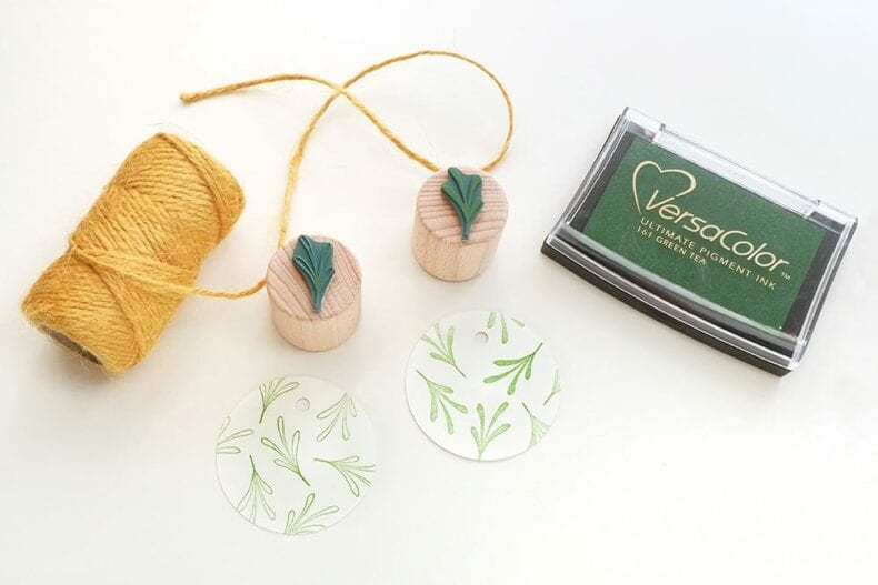 Mini-Stempel-Set Pflänzchen, Sukkulenten || STUDIO KARAMELO | rubber stamp set, mini stamps, succulents